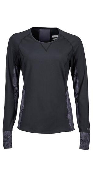 Marmot Lana LS Crew Shirt Women Black/Thrasher